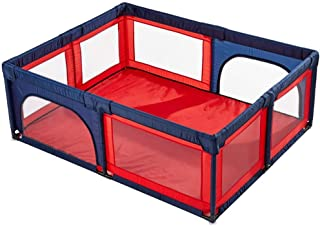 XHJYWL Playpen Large Baby 8-Panel, Toddler Game Fence Anti-Rollover, Portable Kid's Playard Indoor/Outdoor with Door,