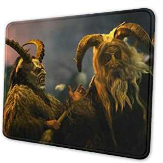 Cracke Elk Merry Christmas Krampus Themed Office Gaming Mouse Pad Gamer Computer Accessories Cool Mat Small for Girl Boy Kid Women Men Home Decor Merchandis Items