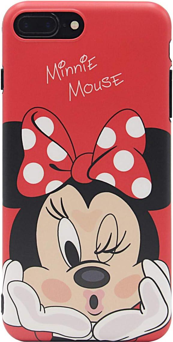MC Fashion iPhone 7 Plus Case, Cute Cartoon Matte Finish Case for Teens Girls Boys Women, Ultra Slim Soft TPU Case for Apple iPhone 7 Plus and iPhone 8 Plus (5.5 inch) (Kiss/Minnie Mouse)