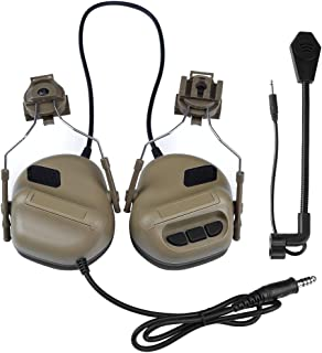 ATAIRSOFT Tactical Headset war Unlimited Power intercom with Microphone Waterproof Headphones, no Noise Reduction Function