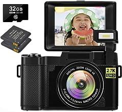 2.7K Camera Digital Camera 30 MP Vlogging Camera Recorder...