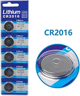 Cotchear 5pcs/Pack CR2016 Coin Battery CR2016 3V Lithium Cell Battery DL2016 ECR2016 LM2016 BR2016 CR 2016 Button Batteries for Watch Toy