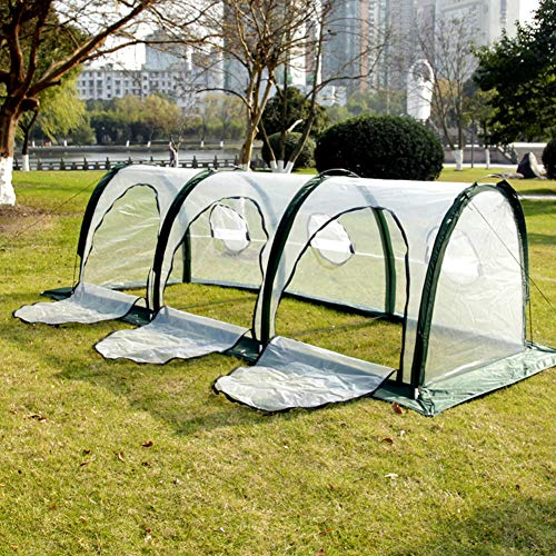 Greenhouse Plastic Sheeting Protection Cover, opvouwbare draagbare huishoudtunnel Serres Cover Garden Plant Seed Grow Tent Cage Plant Tunnel