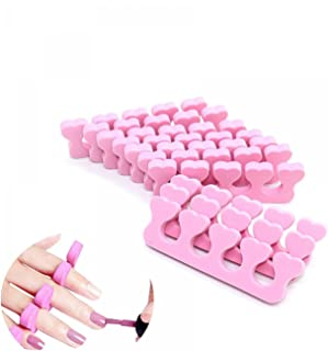 Gonioa 10 Pcs Soft Foam Sponge Toe Separators Finger Separators Dividers Nail Art Manicure Pedicure Tools, Pink