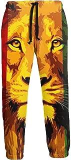Ye Hua Pantalones de chándal de Lana para Hombre Reggae Flag Rasta ...