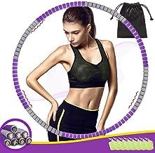 Hula Hoop Volwassenen Fitness, THOWALL 92cm 8-Delige Hula Hoepels voor Training Fitness Gewichtsverlies, Afneembaar, Opvou...