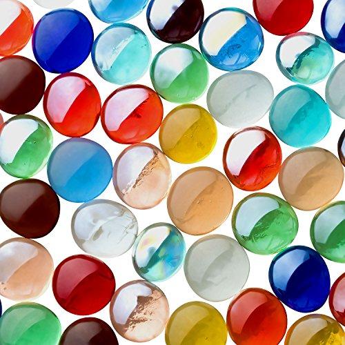 Fundus Lot de 2 boîtes de pâtes en verre Multicolore 17 à 21 mm 500 g Lot de 100