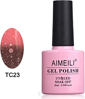 AIMEILI Soak Off UV LED Temperature Color Changing Chameleon Gel Nail Polish - Cola Fizz (TC23) 10ml