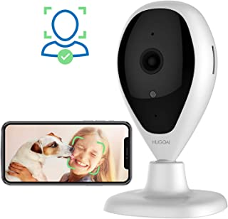 Wireless IP Camera, HUGOAI WiFi 1080P HD Home Security Surveillance Camera with Facial Recognition, Motion Detection, Night Vision, Two Way Audio for Baby Monitor Pet Dog Cameras