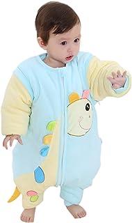 Happy Cherry Saco de Dormir de Piernas Separadas Bolsa para Dormir con Mangas Desmontables para Bebés Unisex Patrón de Girafa - Color Azul
