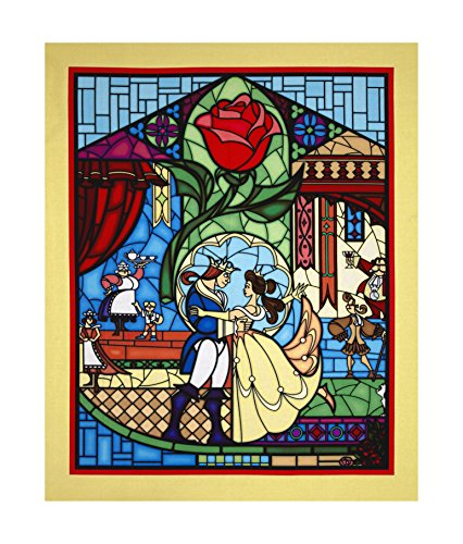 Springs Creative Products Disney Beauty & The Beast 36in Panel Yellow Fabric,