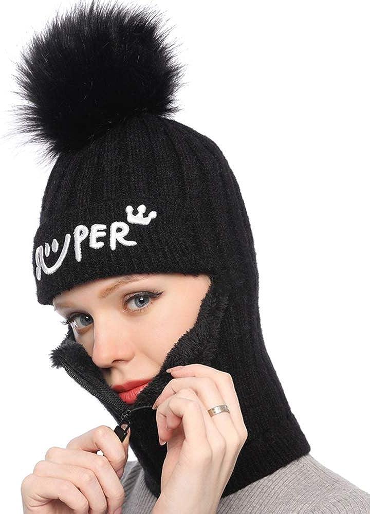 Kacota Winter Knitted Hat Scarf Set for Women 2 in 1 Beanie Scarf Earflap Full Fleece Skull Neck Warmer