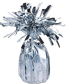 Unique Party Jumbo Foil Balloon Weight, Silver