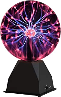 Katzco Plasma Ball - 6 Inch - Nebula, Thunder Lightning, Plug-in - for Parties, Decorations, Prop, Home