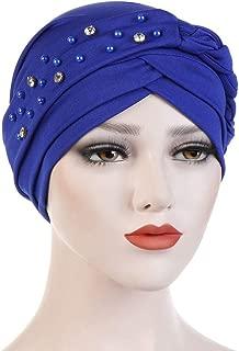 WoCoo Women Muslim Hat India Scarf Ruffle Chemo Beanie Elastic Turban Beanie Head Wrap Chemo Cap Hat