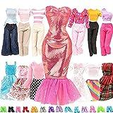 Miunana 15 Kleidung Puppensachen Partymoden Puppenkleidung Mode Kleider für 11,5 Zoll Puppen = 5 Fashion Kleidung Outfit Kostüm 10 Schuhen Zubehör für Puppen Mädchen Geschenk