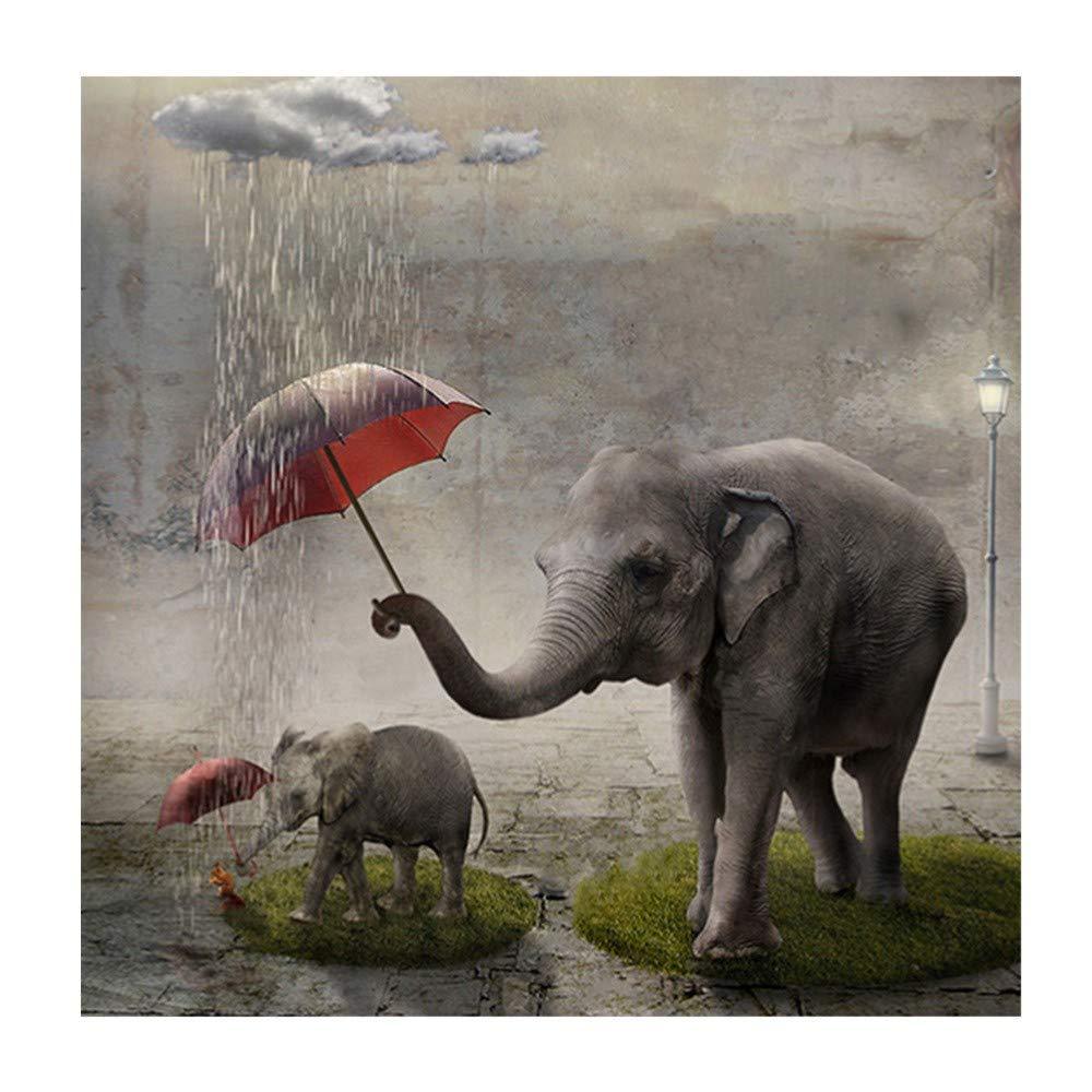 ALISIAM DIY 5D Diamant Painting Voll,Tier-Serie Elefant Imagen ...