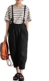 Celmia Women's Strappy Harem Pants Casual Overalls Low Crotch Loose Jumpsuits