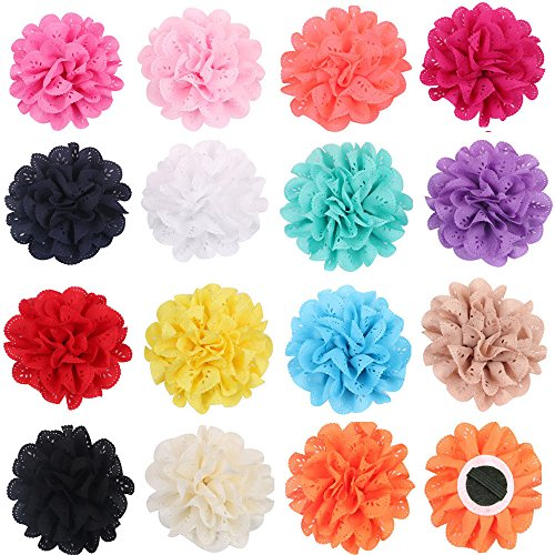 PET SHOW Pack 15 4' Dog Collar Charms Flower Accessories for Cat Puppy Collars Bowtie Grooming