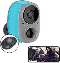 YIROKA Bewakingscamera voor buiten, batterij draadloos, AI-melding, 1080P WLAN IP-camera, activiteitszone, cloud-geheugen,...