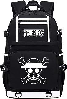 One Piece Viajes/Negocios/Universidad/Mujeres/Hombres Mochila Escolar Nylon Bolsa De Negocios para Mochila De Anime USB con Patrón De Sombrero 48X30X15CM