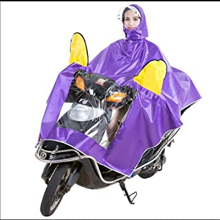 HYBAUDP Raincoat Poncho Set Electric Motorcycle Raincoat Adult Double Hat Poncho Poncho Men and Women Single Helmet Double Sided Cover Increase RaincoatXXXXL (Color : Purple, Size : XXXXL)