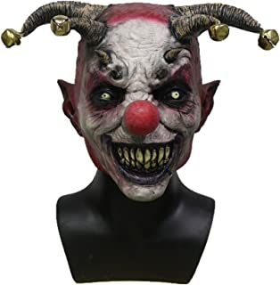 Hengyutoy Mask Máscara de Payaso Hombres, Espeluznante Máscara de Halloween para Adultos