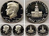 Beautiful coin, hand-picked for quality and eye appeal Dual dates -- 1776 - 1976, commemorating the Bicentennial of the United States Deep mirror-proof finish with JFK on the obverse and Independence Hall on the reverse Extremely collectible and high...