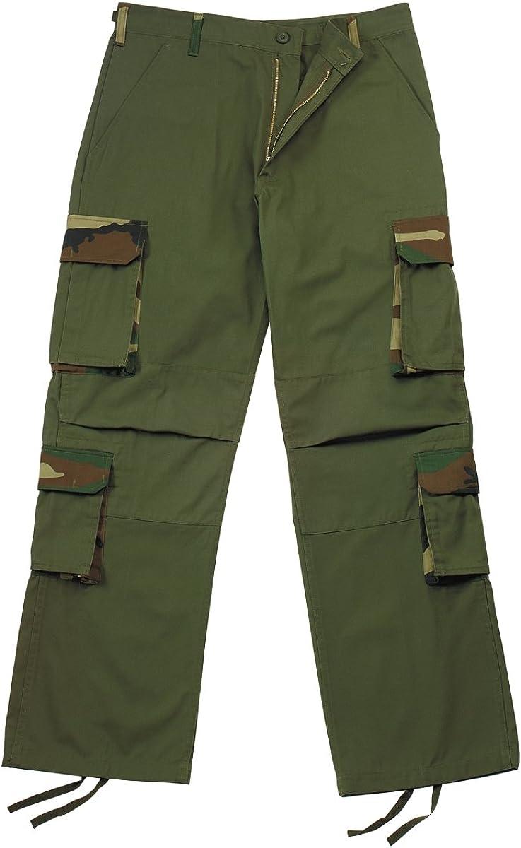 Military Authentic Olive Drab Rigid Accent Fatigues BDU Pants