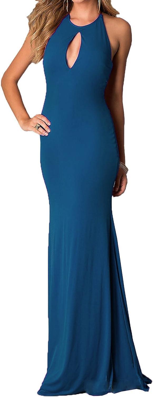 NOVIA Women's High Neck Long Mermaid Floorlength Evening Formal Dresses