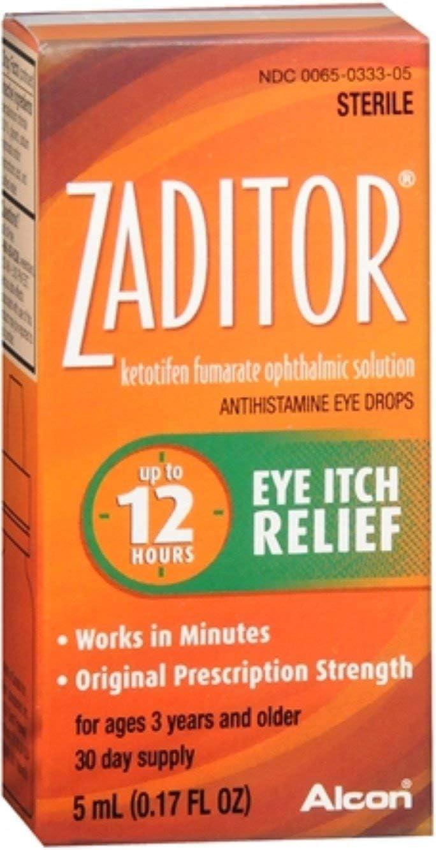 Zaditor Antihistamine Easy-to-use Eye Drops 0.17 of oz Pack shopping 10