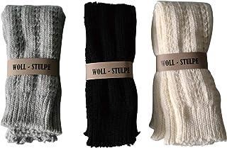 Gesundheitsstrumpf Scaldamuscoli in lana di alpaca 3 paia colore nero e grigio