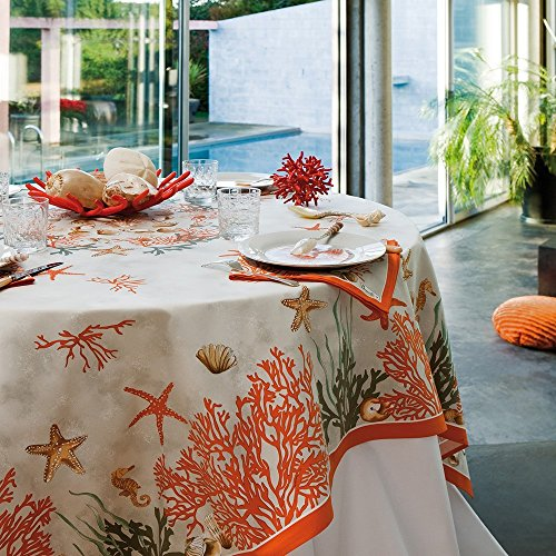 Tischdecke Rechteckig 170× 240cm koralle rot