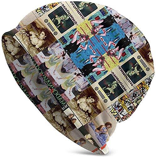 Madonna Collage Slouchy Mütze für Männer und Frauen Dünne Schädelkappe Baggy Oversize Strickmütze Thanksgiving