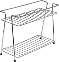 Deetto Stainless Steel Spice 2-Tier Trolley Container Organizer Organiser/Basket for Boxes Utensils Dishes Plates for Home (Multipurpose Kitchen Storage Shelf Shelves Holder Stand Rack