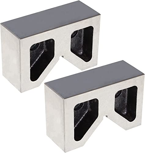 lowest findmall V-Block Set Cast Iron 4 X discount 2-1/4 X 2-5/8 discount Inch outlet sale