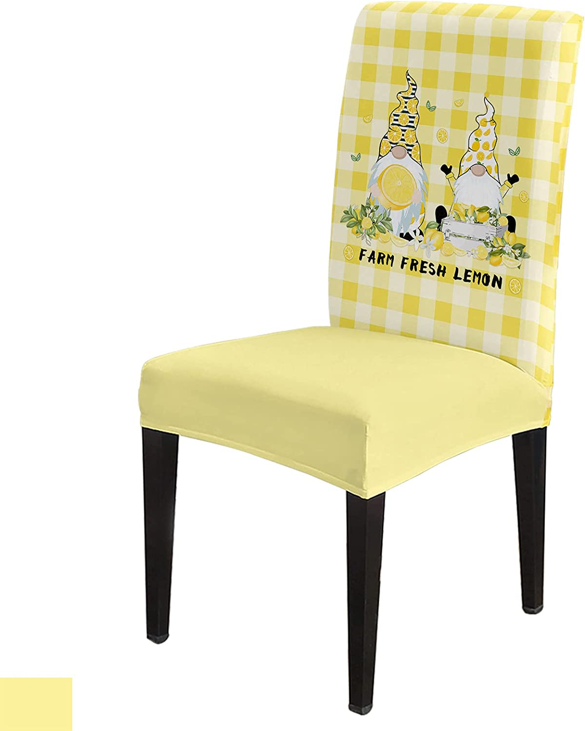 8 Per Surprise price Max 46% OFF Set Summer Lemon Gnome Dining Fresh for Chair Covers Room