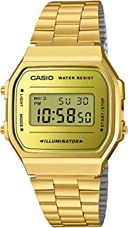 Casio Vintage Series Digital Gold Small Dial Unisex Watch - A168WEGM-9DF (D158)