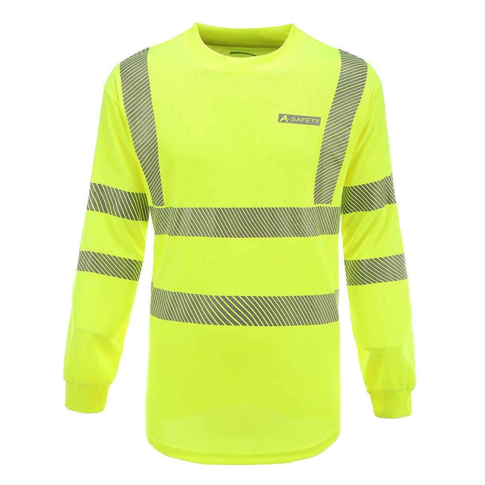 M-3XL Hi Vis Long Sleeve T Shirts Hi Vis High Viz Visibility Long Sleeve Safety Work T Shirt EN20471 hi vis t Shirts