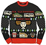 Christmas Vacation Fun Old Fashioned Family Xmas Ugly Christmas Sweater (L) Black, Red