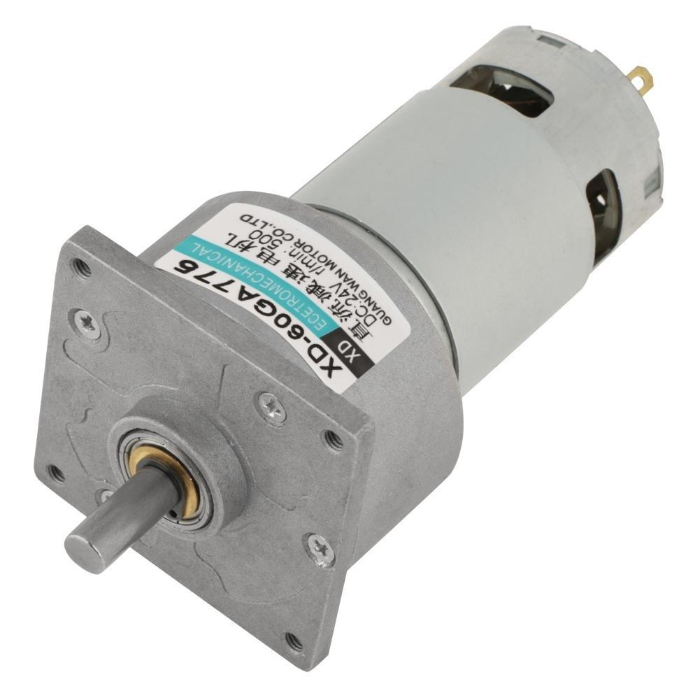Motor de CC, motor de baja velocidad ajustable del motor del engranaje del metal 12V / 24V 10-600rpm 35W CW/CCW(24V 500 rpm)