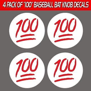 Baseball Bat Knob Decal Sticker 100 Emoji Set