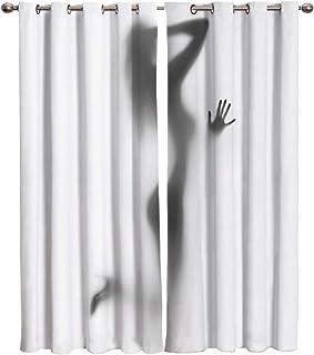 comprar comparacion Vacio 2 Piezas Opaca Cortina para Térmica Aislante y Ruido Bailarina Negra Gris Blanca Salon Dormitorio Moderno Decoracion...