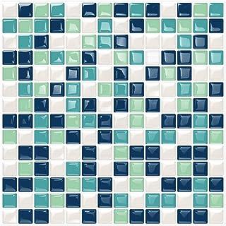 6 Unidades 3D autoadhesiva Etiqueta engomada del azulejo de