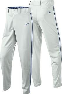 Nike Men's Swingman Dri-FIT Piped Baseball Pants (White/Royal, Large)