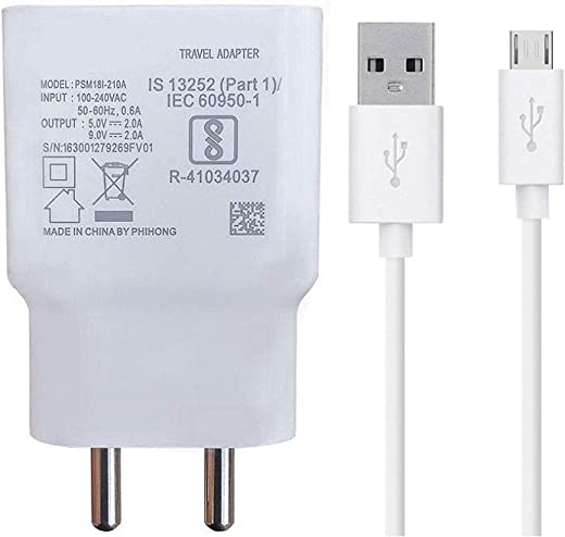 Siwi Fast Charger for Samsung Galaxy A10 Charger Original Adapter Like Wall Charger | Mobile Fast Charger | Android USB Charger with 1 Meter Micro…