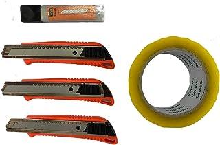 مجموعة سكين قص 18 مم من لوكوس للمكتب، لوازم المدرسة، المنزل