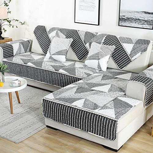 salón Funda de sofá,Funda de sofá de cuero chaise longue, protector de sofá suave y transpirable, almohadilla de juego de sala de estar, estera de ventana panorámica, para primavera verano otoño invi