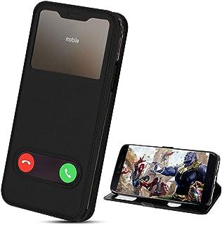 XCYYOO Coque pour Samsung Galaxy A10 Housse Etui à 2 Fênetres en Simili Cuir avec Rabat Magnétique,Pochette Housse[Fonctio...