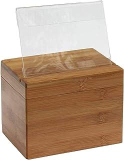 starters Boîte à Recettes en Bambou, Boîte d'organisation de Recettes en Bois Ensemble de boîtes de Rangement pour Recette...